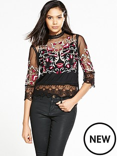 river-island-embroidered-mesh-top