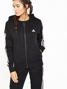 adidas-essentials-3-stripe-full-zip-hoodie-blacknbsp