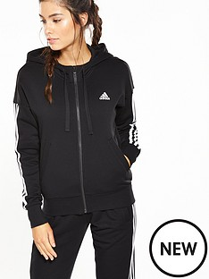 adidas-essentials-3-stripe-full-zip-hoodie-blacknbsp