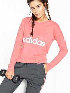 adidas-essentials-linear-long-sleeve-tee-rosenbsp
