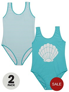 v-by-very-girls-shell-and-stripe-swimsuits-2-pack