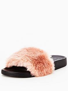 v-by-very-tribe-fluffy-slider-pink