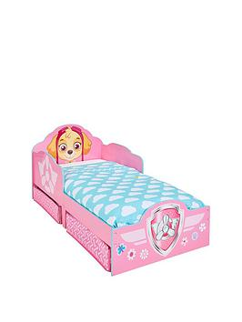 paw-patrol-skye-toddler-bed-with-underbed-storage-by-hello-home