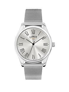 limit-limit-silver-tone-dial-silver-mesh-bracelet-mens-watch