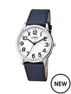 limit-limit-white-dial-navy-leather-strap-mens-watch