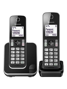 Panasonic KxTgd312Eb Digital Cordless Telephone (2 Handsets)