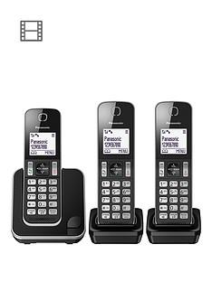 panasonic-kx-tgd313eb-digital-cordless-telephone-3-handsets