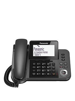 Panasonic KxTgf320Em  Digital Answering System With 1 Corded Handset And 1 Cordless Handset