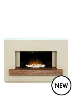 adam-fire-surrounds-sambro-fireplace-suite-in-stone-effect-with-walnut-shelf