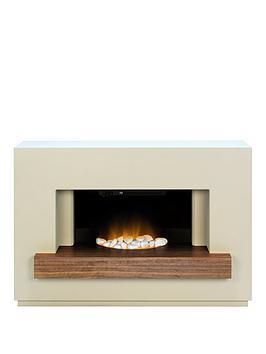 adam-fire-surrounds-sambronbspfireplace-suite-in-stone-effect-with-walnut-shelf