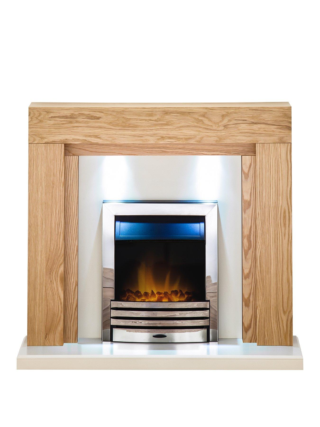 Compare prices for Adam Fire Surrounds Beaumont Fireplace Suite In Oak With Eclipse Electric Fire In Chrome