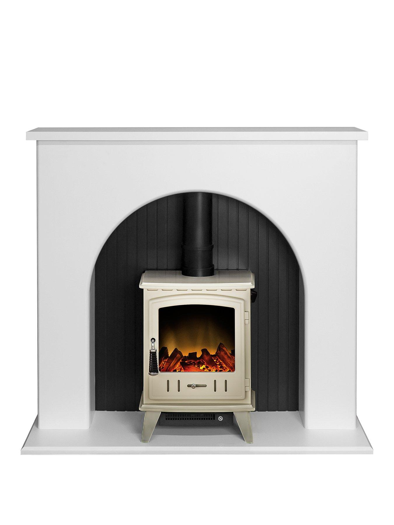 Compare prices for Adam Fire Surrounds Kirkham Stove Suite In Pure White