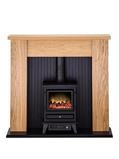 adam-fire-surrounds-new-england-stove-suite-in-oak-with-hudson-electric-stove-in-black