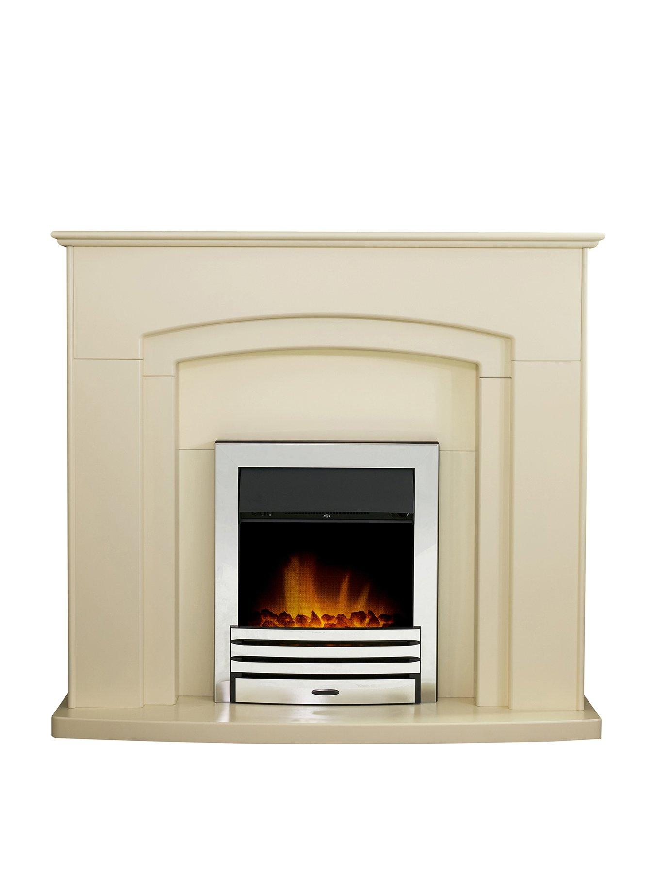 Compare prices for Adam Fire Surrounds Falmouth Fireplace Suite In Stone Effect With Eclipse Electric Fire In Chrome