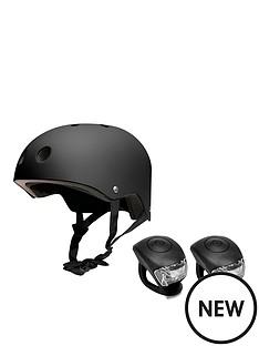feral-helmet-black-with-urban-proof-silicone-bike-light-set