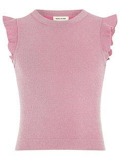 river-island-girls-pink-frill-sleeve-top