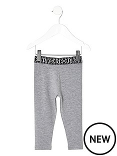 river-island-mini-mini-girls-grey-branded-leggings