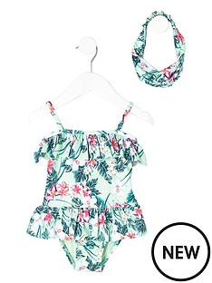 river-island-mini-girls-light-green-tropical-swimsuit