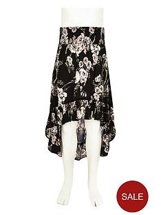 river-island-girls-black-floral-high-low-hem-maxi-skirt