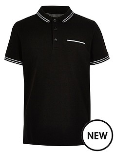 river-island-boys-tipped-short-sleeve-polo-shirt