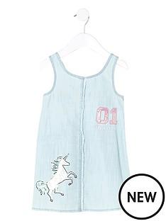 river-island-mini-girls-denim-unicorn-shift-dress