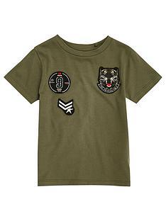 river-island-mini-mini-boys-khaki-badge-t-shirt