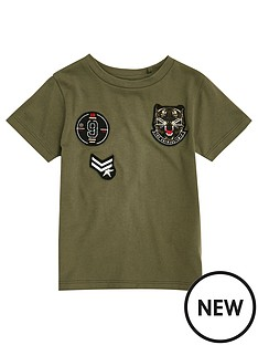 river-island-mini-mini-boys-khaki-badge-t-shirt