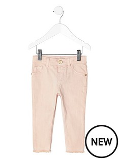 river-island-mini-mini-girls-light-pink-skinny-jeans