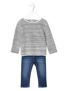 river-island-mini-mini-boys-grey-jumper-and-bl