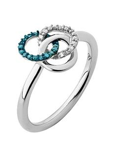 links-of-london-links-of-london-treasured-sterling-silver-white-amp-blue-diamond-ring