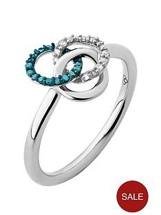 links-of-london-links-of-london-treasured-sterling-silver-white-amp-blue-diamond-ring