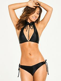 myleene-klass-textured-tie-neck-bikini-set-black