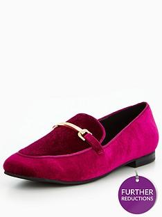 v-by-very-patsy-velvet-gold-trim-loafer-magenta
