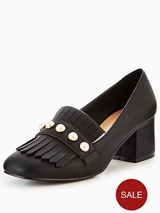 v-by-very-natalie-pearl-detail-heeled-loafer-black