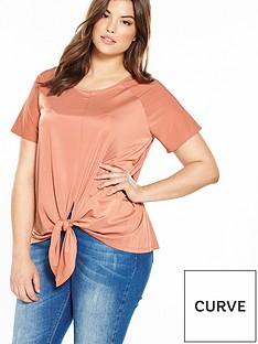 v-by-very-curve-slinky-tie-knot-t-shirt-apricot