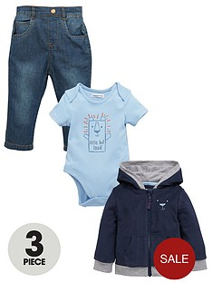 ladybird-baby-boys-3pc-hooded-top-bodysuit-amp-jea