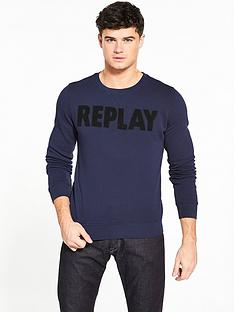 replay-large-logo-crew-sweat