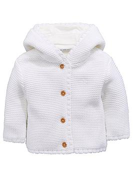 mini-v-by-very-baby-unisex-hooded-knitted-cardigan-ivory