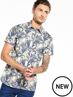 selected-homme-floral-short-sleeve-shirt