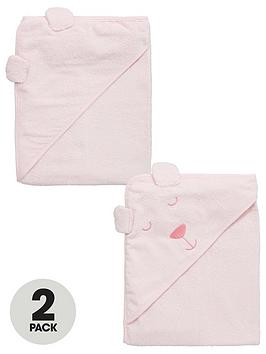 ladybird-baby-girls-hooded-2pack-bear-towels