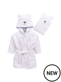 ladybird-baby-unisex-towelling-bear-robe-and-mitt-set