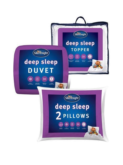 silentnight-deep-sleep-135-tog-duvet-pillow-pair-and-mattress-topper-bundle