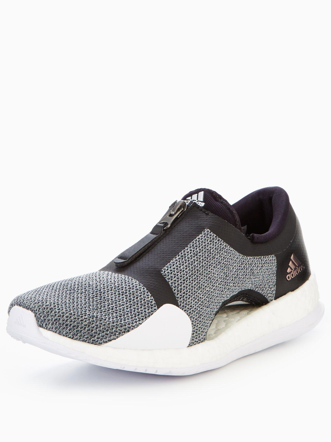 adidas Pure Boost X Trainer Zip Black/Silver 1600156854 Women's Shoes adidas Trainers
