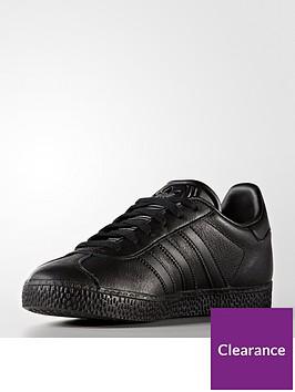 buy popular 5b3b8 6d02d adidas Originals Gazelle Junior Trainer - Black