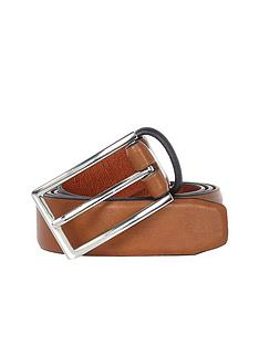 river-island-river-island-mens-tan-navy-contrast-keeper-belt