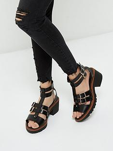 river-island-river-island-chunky-buckle-cleated-sandal