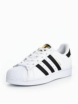 newest 540b7 dfe64 adidas Originals Superstar Junior Trainer - White