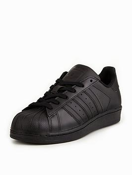 adidas Originals Superstar Junior Trainer - Black  3d2624ae3