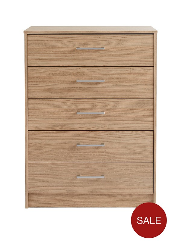 cheap for discount b3fca def5c Barlow Ready Assembled 5 Drawer Chest