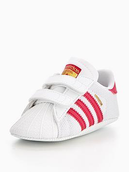 huge selection of 3531f b0e8a adidas Originals Superstar Crib Trainer - WhitePink